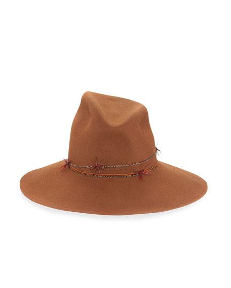 Drake Asymmetric Felt Hat, Brandy