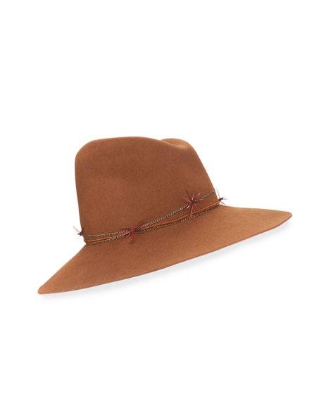 Gigi Burris Drake Asymmetric Felt Hat, Brandy