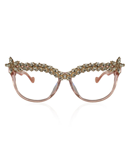 Decadent Ones Cat-Eye Optical Frames, Pink