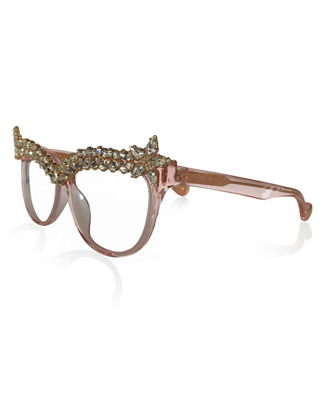 Decadent Ones Cat-Eye Optical Frames, Pink