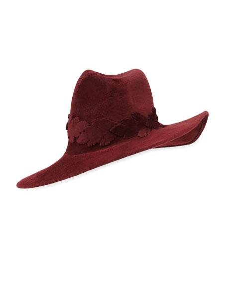 New Structured Wave Hat, Burgundy
