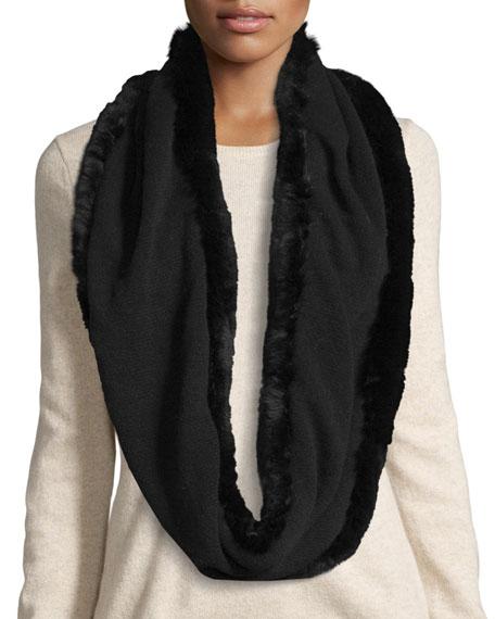 La Fiorentina Fur-Trim Cashmere & Wool Infinity Scarf,