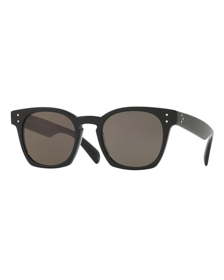 Oliver Peoples Byredo Square Monochromatic Sunglasses, Black