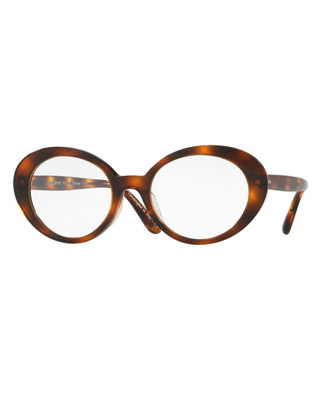 Oliver Peoples Parquet Photochromic Oval Sunglasses, Tortoise