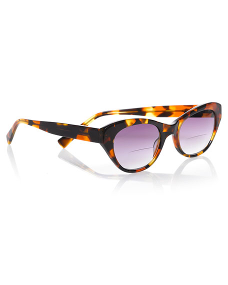 B'Witched Cat-Eye Reader Sunglasses, Tortoise