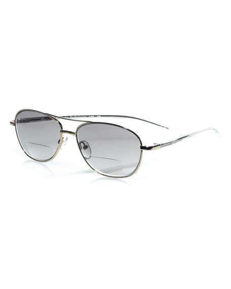 Eyebobs Turbulence Aviator Sun Readers, Gold