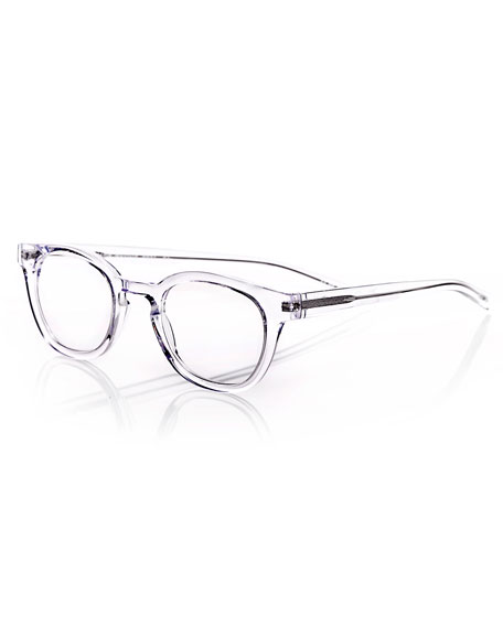 EYEBOBS WAYLAID TRANSPARENT SQUARE READERS, CLEAR