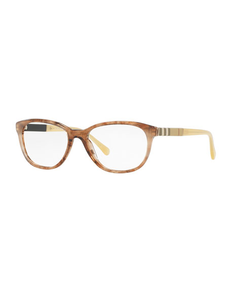 ac915c4d18 Burberry Rounded Cat-Eye Optical Frames
