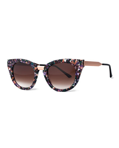 Snobby Cat-Eye Sunglasses, Multicolor