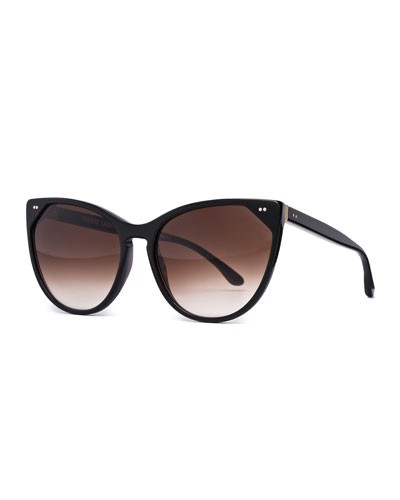 Swappy Cat-Eye Sunglasses, Black