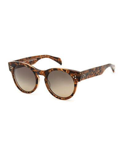 Wilcox Round Polarized Sunglasses, Tortoise
