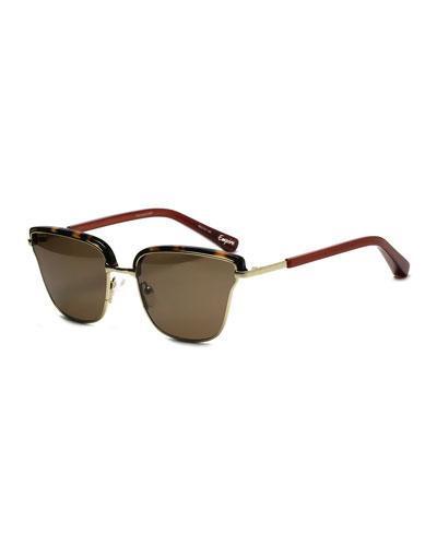 Empire Peaked Square Sunglasses