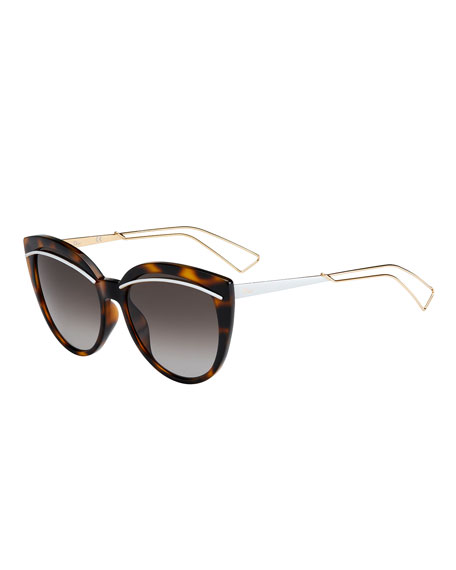 Image 1 of 1: Liners Butterfly Cutout Sunglasses