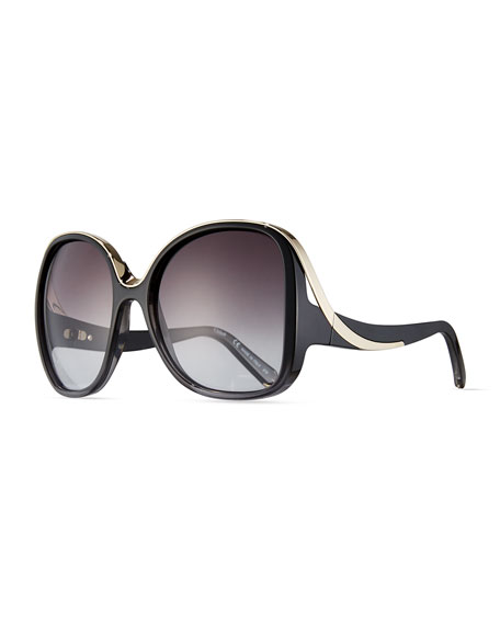 Chloe Mandy Square Acetate Sunglasses