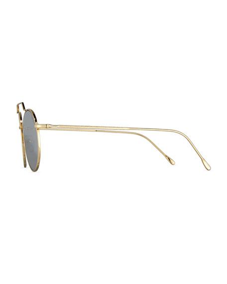 Wynwood II Round Mirrored Sunglasses