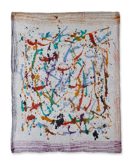 Luigi Voile Splatter Scarf, Multicolor