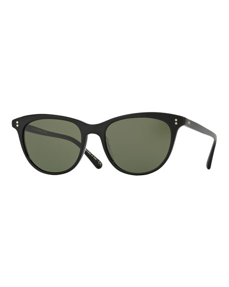 Oliver Peoples Jardinette Monochromatic Square Sunglasses, Black