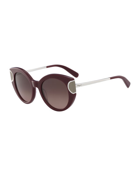 Signature Colorblock Cat-Eye Sunglasses