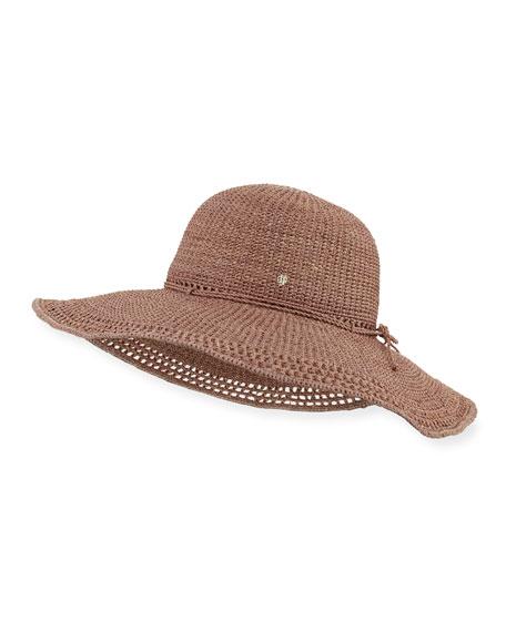 Helen Kaminski Nicea Crochet-Stitched Floppy Raffia Sun Hat,