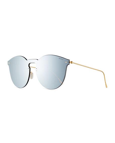 Illesteva Leonard II Mask Sunglasses, Gray
