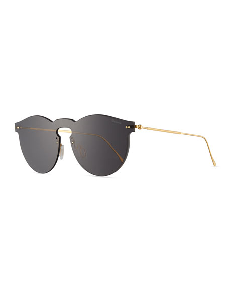 Illesteva Leonard Mask Sunglasses, Gray
