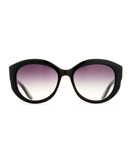 Patchett Gradient Sunglasses, Black/Smolder