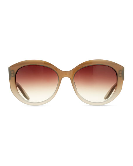 Patchett Gradient Sunglasses, Sandstone/Smoky Topaz