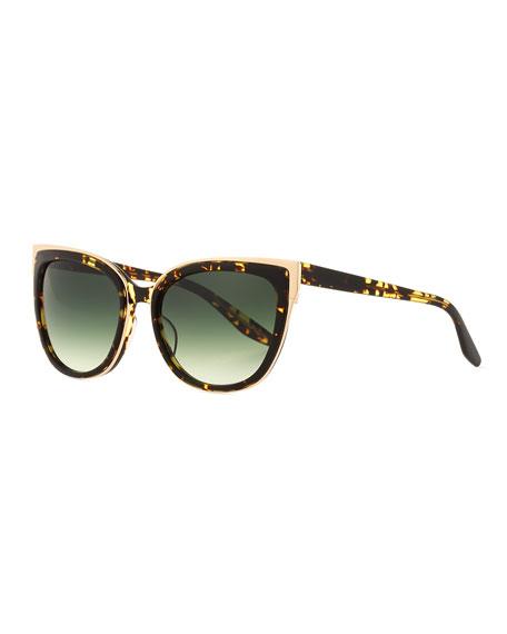 Barton Perreira Winette Gradient Cat-Eye Sunglasses, Havana
