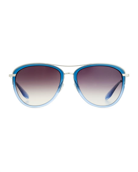 Universal Fit Aviatress Aviator Sunglasses, Smolder/Blue Bayou