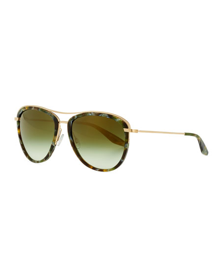 Universal Fit Aviatress Aviator Sunglasses, Green