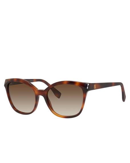 Squared Cat-Eye Sunglasses