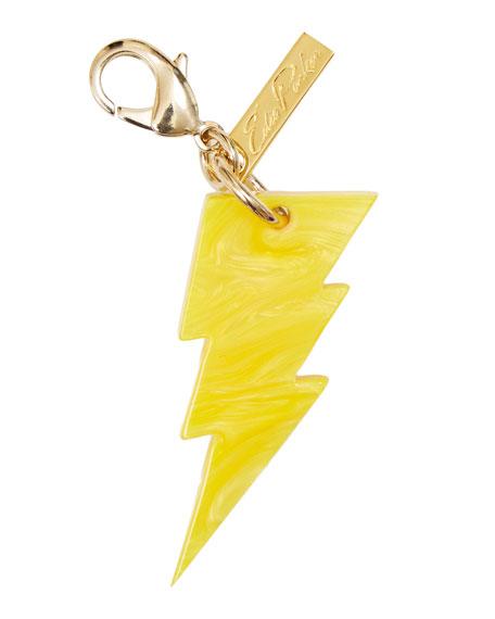 Edie Parker Lightning Bolt Bag Charm, Yellow Glow