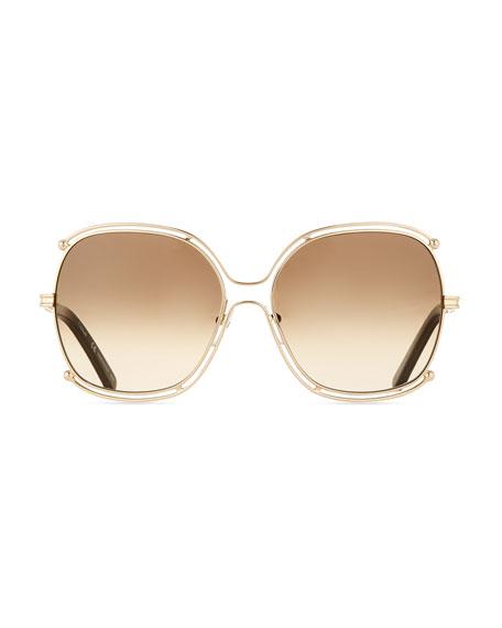 Isidora Metal Aviator Sunglasses
