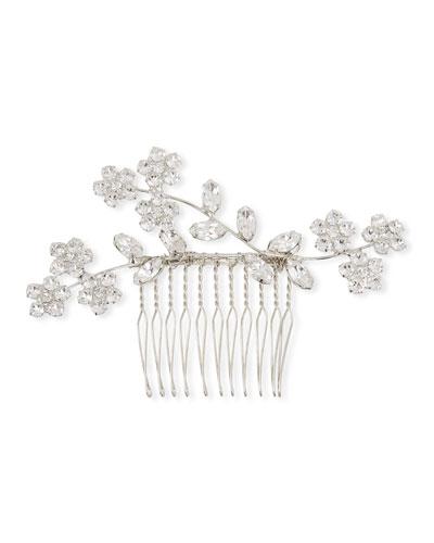 Violet Swarovski Crystal Hair Comb