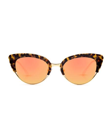 Josephine Mirrored Cat-Eye Sunglasses