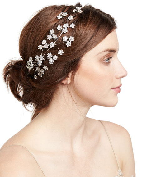 Camille Floral Web Circlet Headband