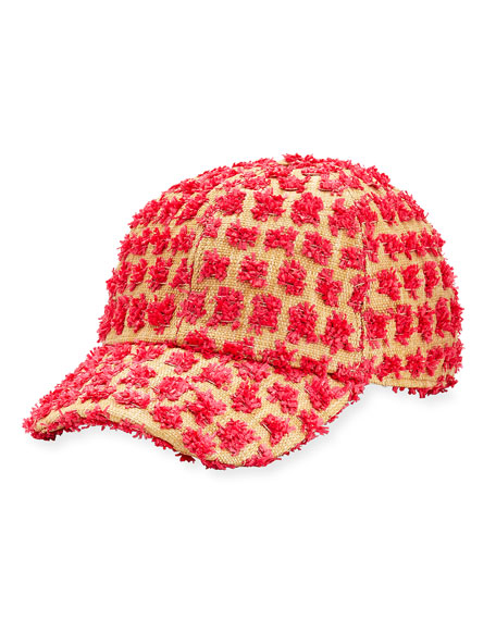 Federica Moretti Tom Frayed Canvas Baseball Cap, Pink