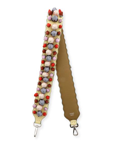 Strap You Rosebud Shoulder Strap for Handbag, Yellow/Multi