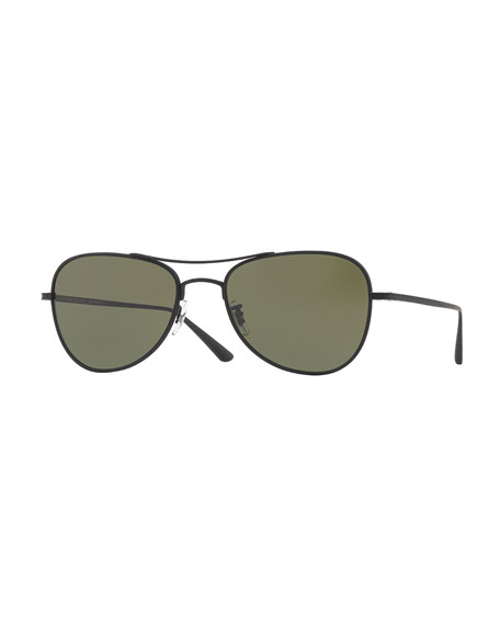 Oliver Peoples Executive Suite 53 Monochromatic Aviator