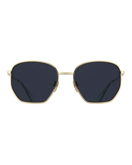 Ottoman Geometric Sunglasses, Black Nickel