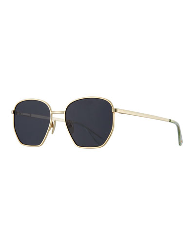 Ottoman Geometric Sunglasses, Black Nickel