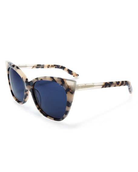 Pared Eyewear Cat and Mouse Cat-Eye Sunglasses, White
