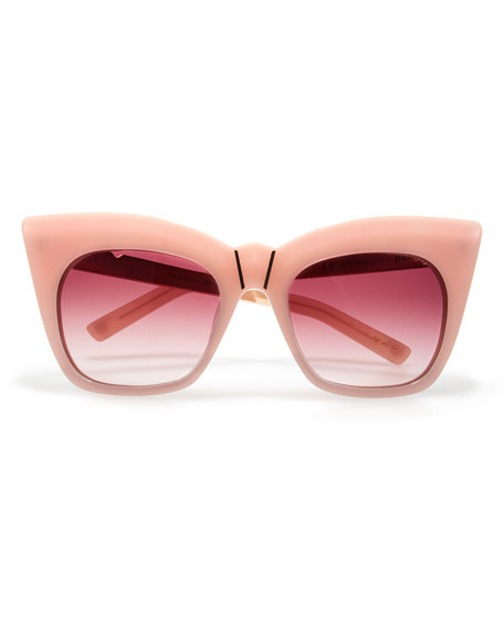 Kohl and Kaftans Cat-Eye Sunglasses, Pink/Rose Gold