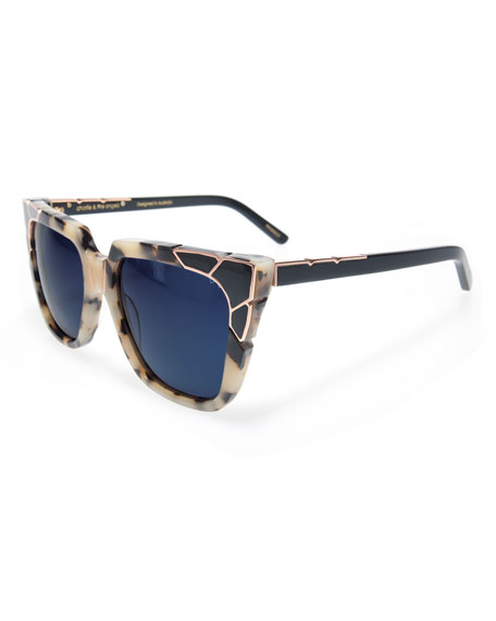 Pared Eyewear Charlie and the Angels Flat-Top Cat-Eye