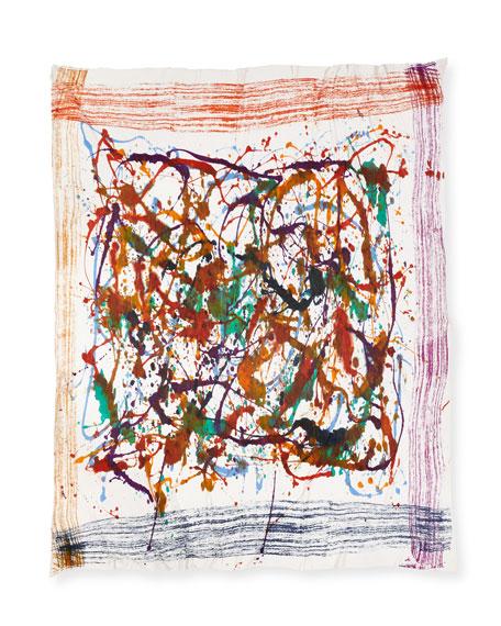Locky Splatter-Print Scarf, Multicolor