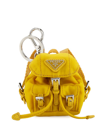 Vela Backpack-Shaped Handbag Charm/Keychain, Yellow (Gello)