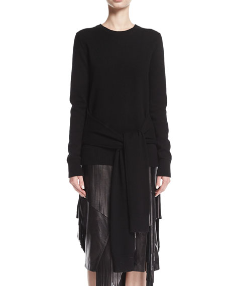 Cashmere Sweater Muffler, Black