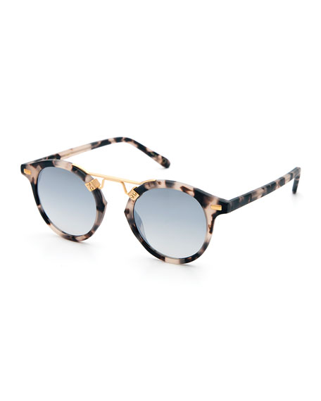 St. Louis Round Gradient Sunglasses, Tortoise