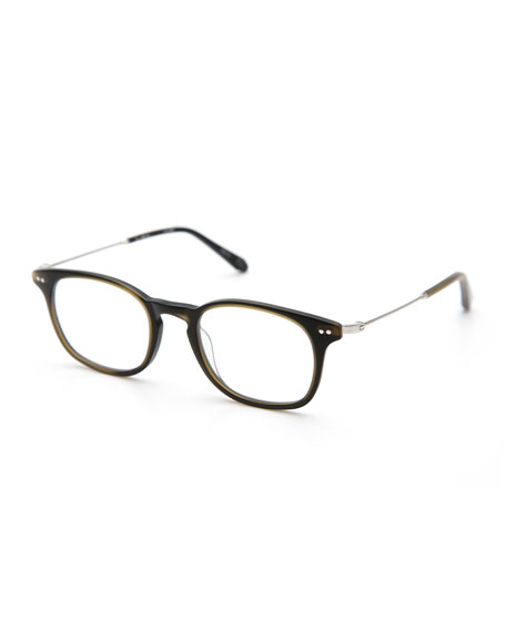 KREWE La Salle Square Optical Frames, Matte Fern