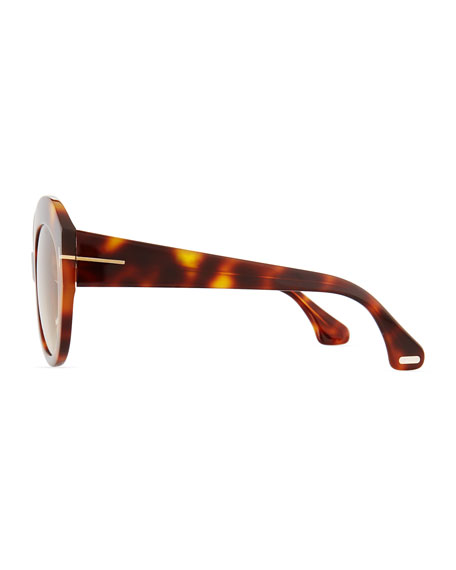 Rachel Round Acetate Sunglasses